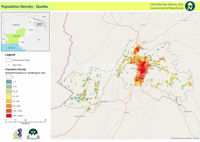 Quetta Population Density