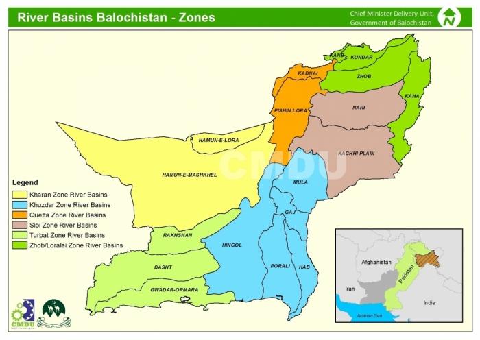 River Basin Zones Balochistan